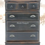 Tall Black Dresser with Pottery Barn Appeal