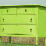Spring Hill Green turns an Antique Dresser into One Sassy Piece!