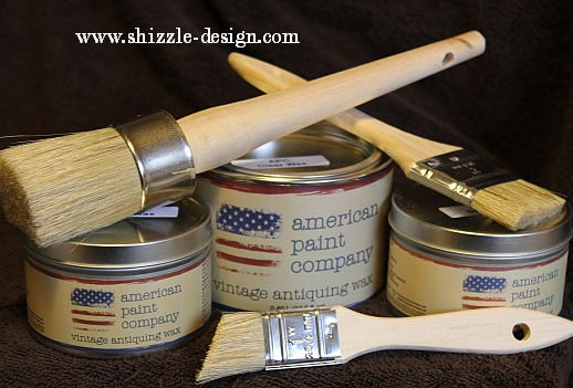 American Paint Company's Vintage Antiquing Waxes are non-petroleum based.  The ingredients are listed on the can so you don't have to guess what's in  it. - Shizzle Design Great Tips For Waxing Painted Furniture