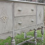 Antique Buffet in Layers of Frenchy Gray