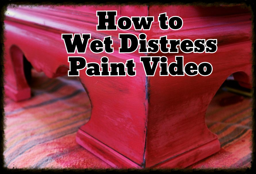 Video How To Wet Distress Paint