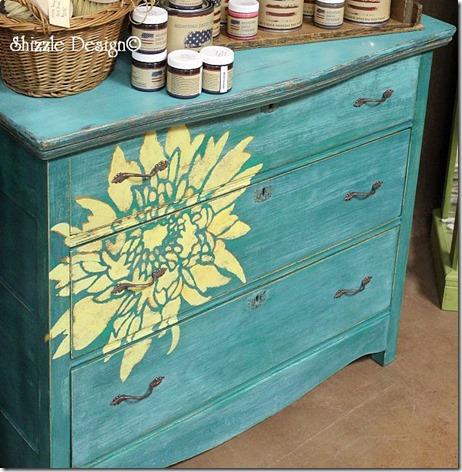 Shizzle Design painted furniture Authorized Retailer CeCe Caldwell's chalk clay Paints Not So Shabby 2975 West Shore Drive Holland, Michigan 49424 colors ideas dahlia dresser vintage for sale