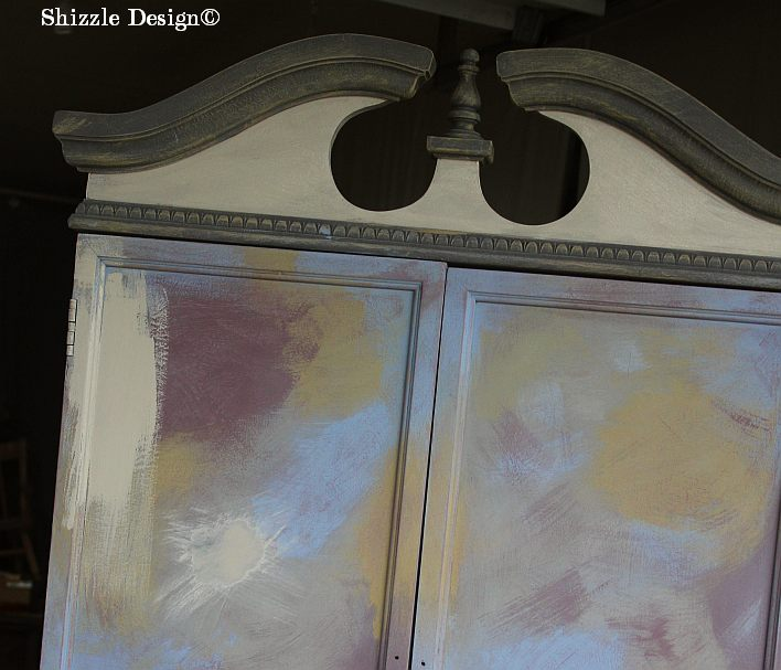 French Country Armoire Shizzle Design, ideas, furniture, chalk, clay, American Paint Company, Michigan experimenting 2 layering