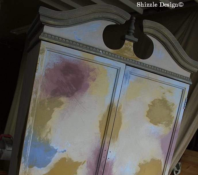 French Country Armoire Shizzle Design, ideas, furniture, chalk, clay, American Paint Company, Michigan experimenting