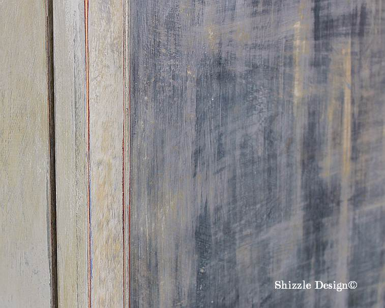 French Country Armoire Shizzle Design, ideas, gray, furniture, chalk, clay, American Paint Company, Michigan funky finish layered close up front door 1