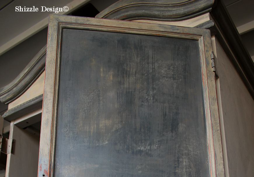 French Country Armoire Shizzle Design, ideas, purple, blue, furniture, chalk, clay, American Paint Company, Michigan 13