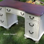 Antique Vanity Painted in Custom Mixed Creamy White