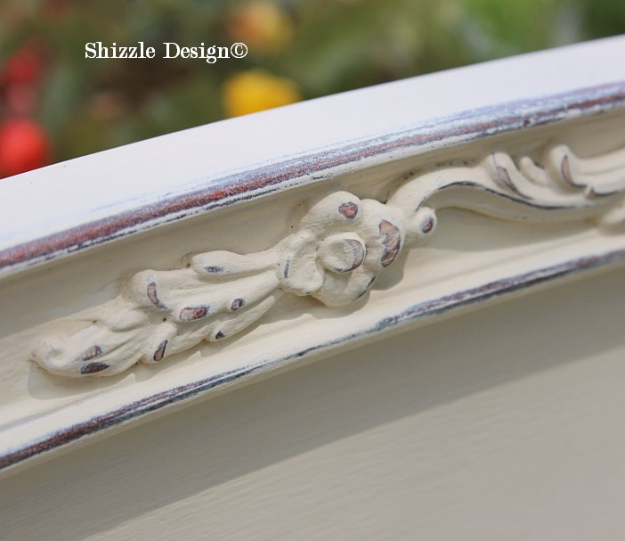 Shizzle Design Michigan #americanpaintcompany creamy white Home Plate Rushmore Heaven's Light chalk clay paint bedroom footboard details 7