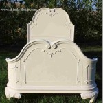 Little Girl's White Princess Bed