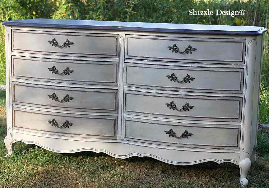 Antique Double Bow Front Dresser Amp Highboy Chest