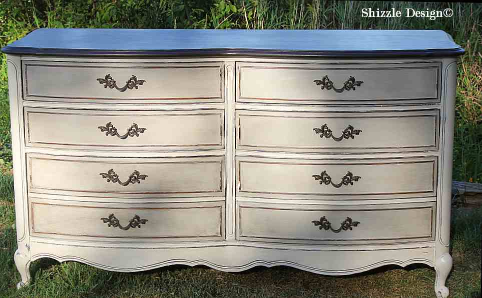 French Provencial Dresser Painted Taupe White Chalk Clay Paints Zle Design Furniture Ideas