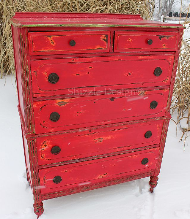 Fireworks Red Shizzle Design Paint Studio American Paint Company highboy chalk clay dresser best ideas tips layering 7 Home Turf 1