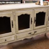 French Provincial Buffet Hand Painted with an Old World Patina