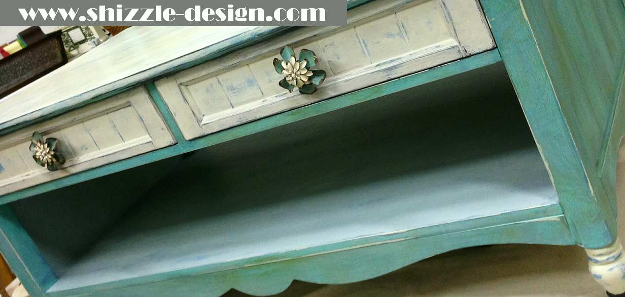 Shizzle Design Chalk And Clay Painted Furniture Coffee Table Turquoise American Paint Company Womens Expo