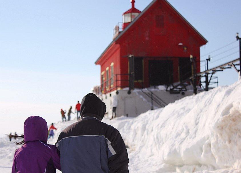1 Grand Haven Michigan State Park Lake Michigan Ice February 2014  16