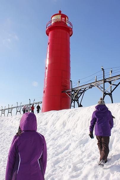 1 Grand Haven Michigan State Park Lake Michigan Ice February 2014  20