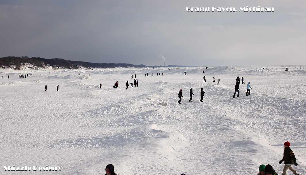 Grand Haven Michigan State Park Lake Michigan Ice February 2014  21