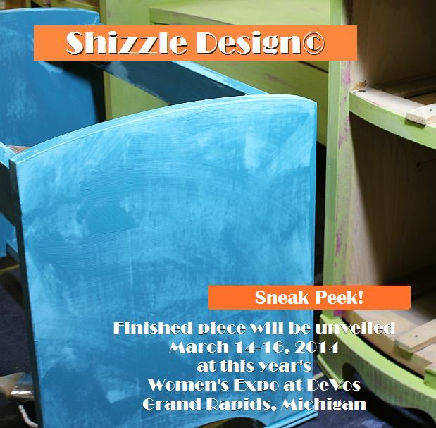 Shizzle Design chalk clay paint Grand Rapids MI American Paint Company green painted vanity colorful workshops 2018 chicago dr., Jenison, MI 49428 Beach Glass Bordello