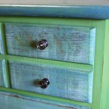 Highboy Whimsically Dry-brushed in Green and Blue & We Miss You Syd!