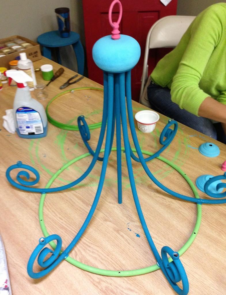 Shizzle Design – Chandelier Makeover Ideas