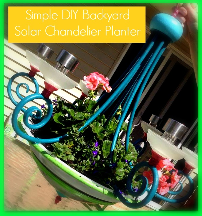 shizzle design  how to create an outdoor solar powered chandelier, Lighting ideas