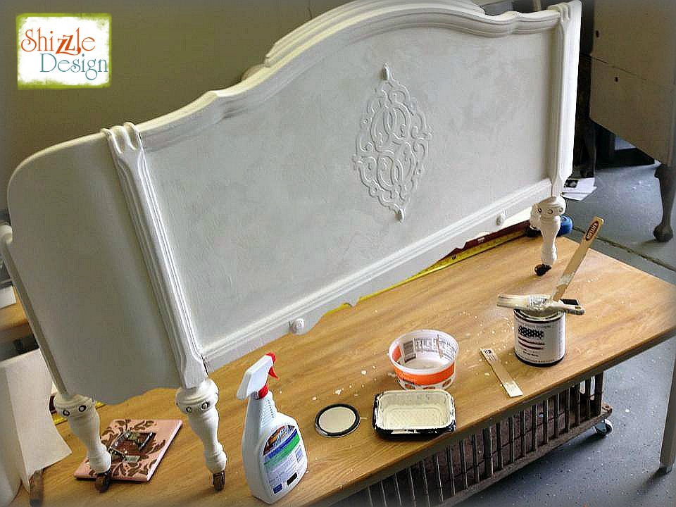 Shizzle Design Antique Bed American Paint Company Navajo White Rushmore Jenison Michigan chalk clay paint 8
