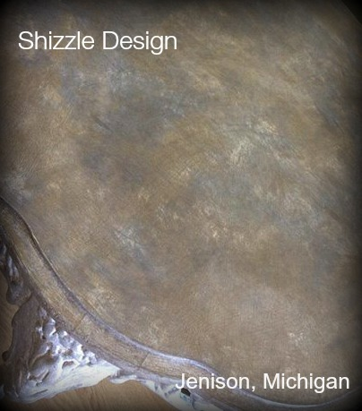 American Paint Company Shizzle Design chalk clay painted furniture table Sackcloth Cameo ideas Michigan layering gray white