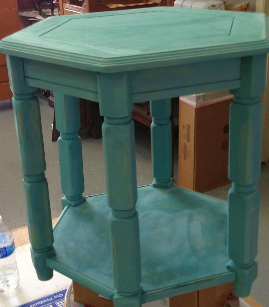 August chalk paint Beach Glass teal ideas inspiration Shizzle Design painted furniture table workshops best class Jenison Michigan American Paint Company
