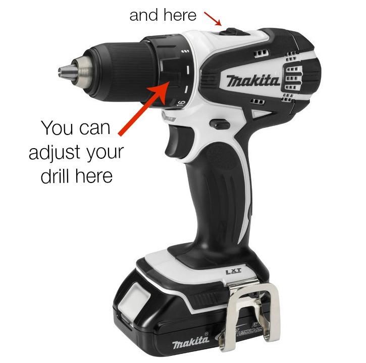 Drill adjustments