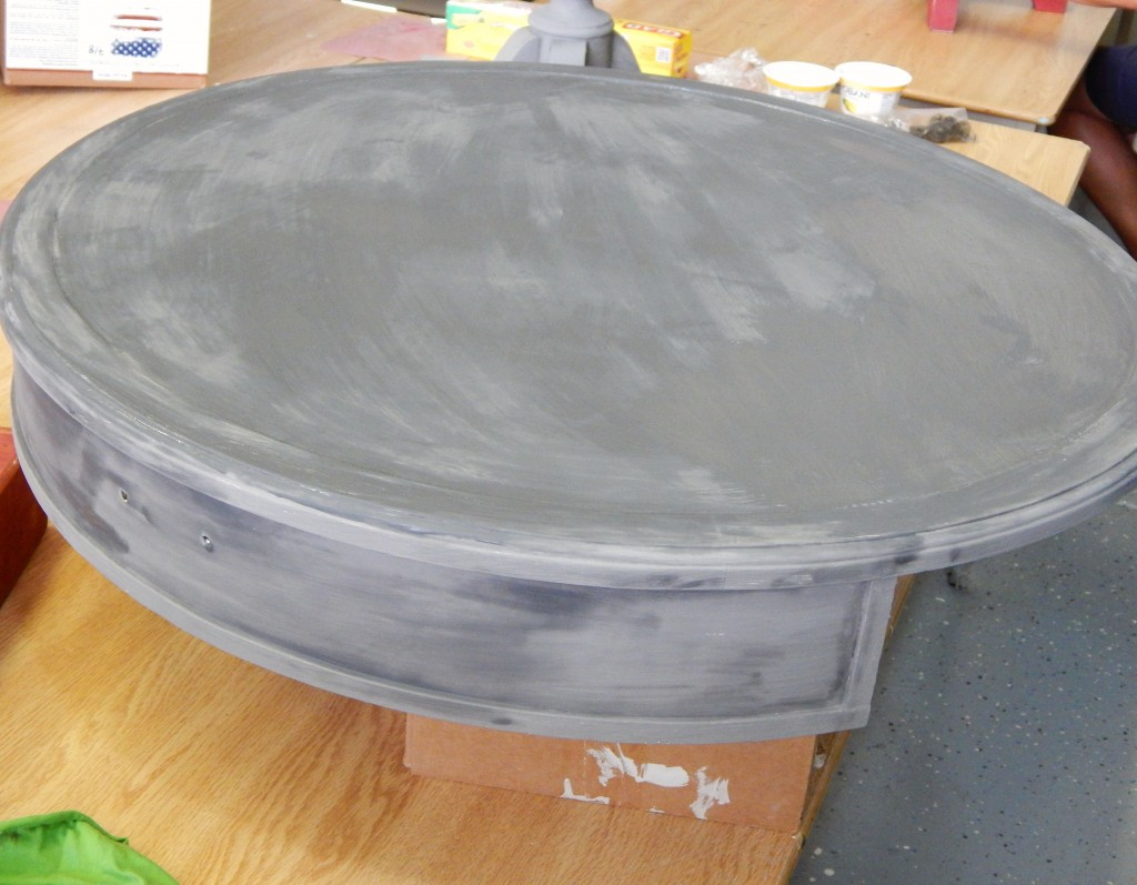 Learn how layer chalk clay paint colors DIY ideas inspiration Shizzle Design painted furniture makeovers workshops best class Jenison Michigan American Paint Company Freedom Road