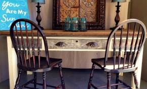 Vintage Library Table + Reclaimed Barn Wood = Cool Harvest Farm Table