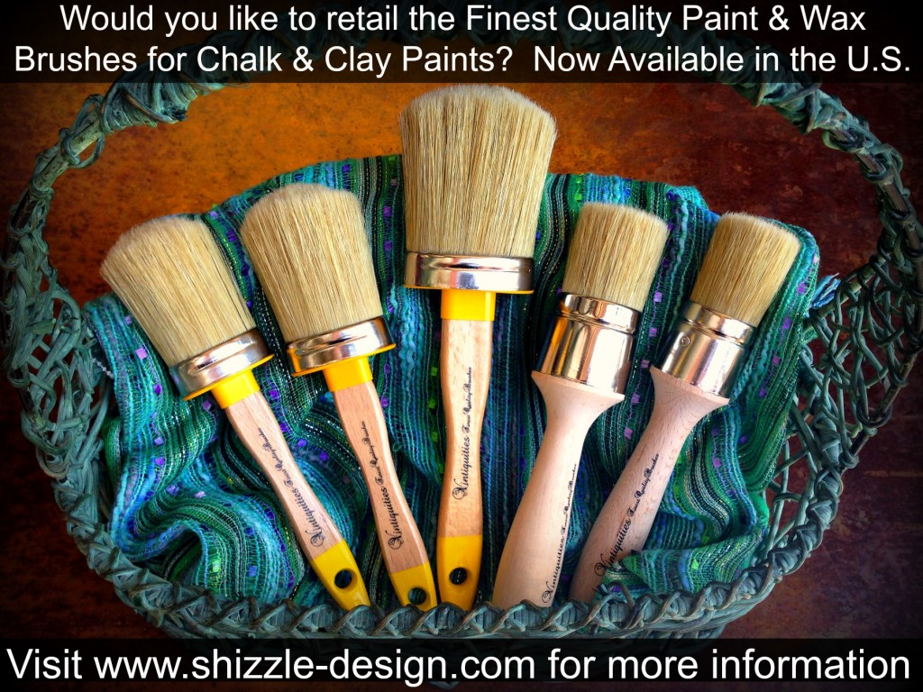 Finest Quality Paint & Wax Brushes available at www.shizzle-design.com/store