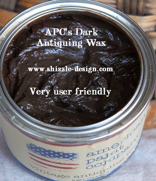 American Paint Company's Dark Vintage Antiquing Wax Shizzle Design #www.shizzle-design.com