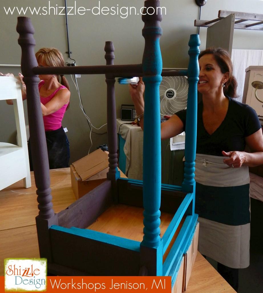 August chalk clay paint colors DIY ideas inspiration Shizzle Design painted furniture makeovers workshops best class Jenison Mi d