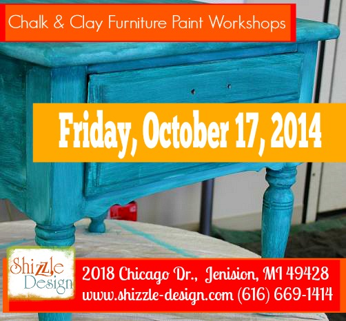 Chalk clay paint workshops grand rapids michigan 2014 shizzle design 2