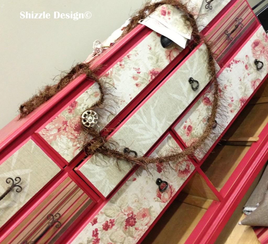 fabric covered dresser