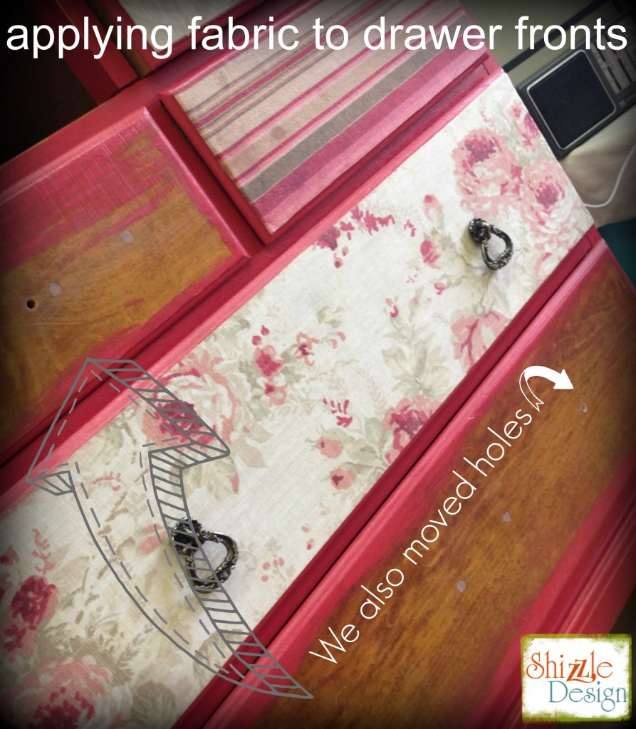 how to apply fabric to drawer fronts furniture move drawer pull holes