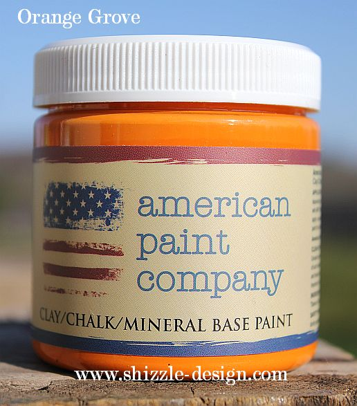 Orange Grove by American Paint Company now available at Shizzle Design Michigan colors chalk clay paint furniture