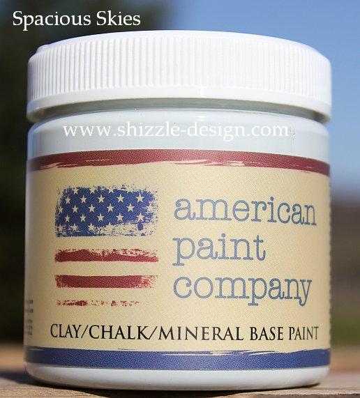 Spacious Skies Sample Size Pot Shizzle Design American Paint Pots pale blue chalk clay paint www.shizzle-design.com