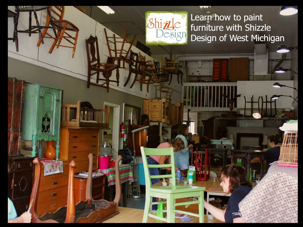 chalk clay paint colors DIY ideas inspiration Shizzle Design painted furniture makeovers workshops best class Jenison MI 3