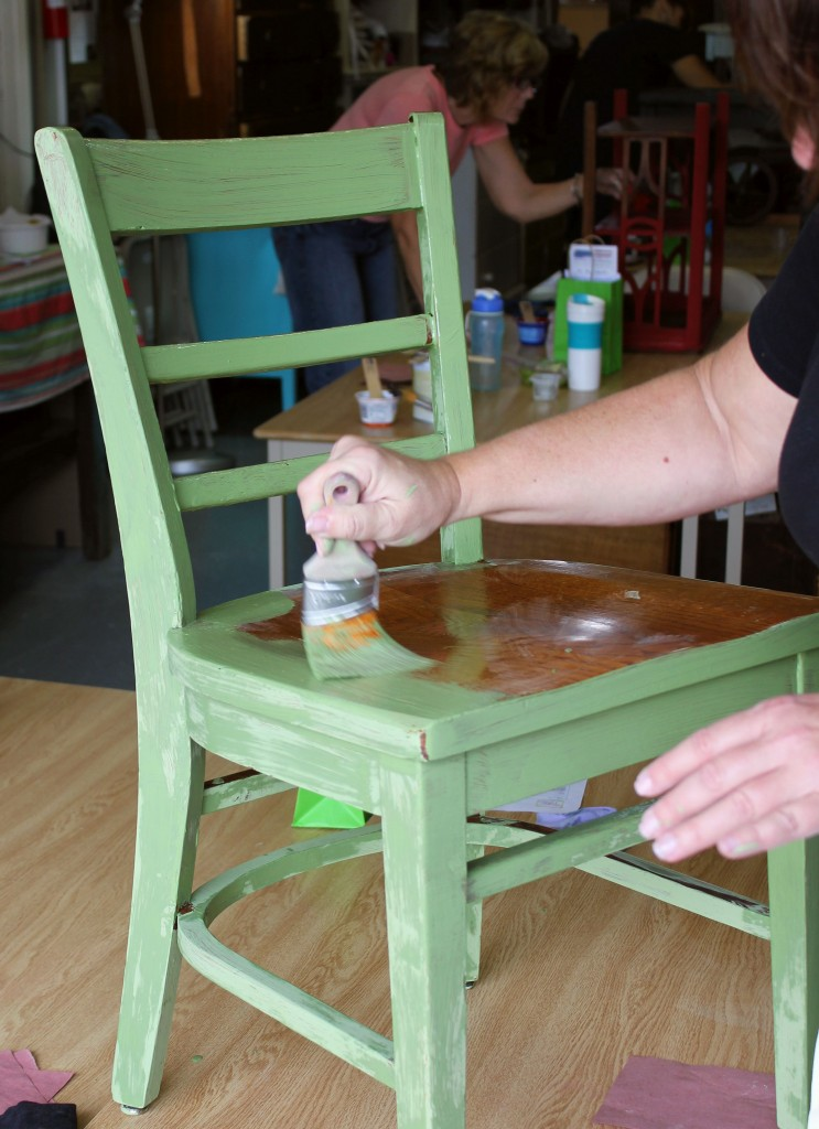 chalk clay paint colors DIY ideas inspiration Shizzle Design painted furniture makeovers workshops best class Jenison Michigan American Paint Company 2 chair Nana's Cupboard