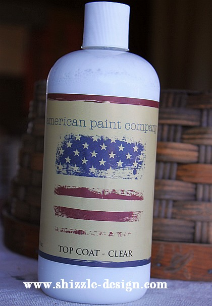 American Paint Company's Topcoat bottle Shizzle Design #www.shizzle-design.com