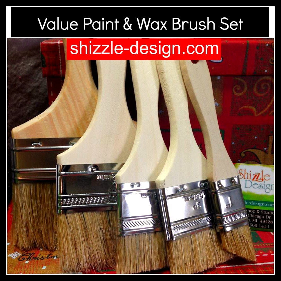 Value Paint & Wax Brush Set from Shizzle Design