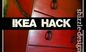 IKEA Hack – Rast 3 Drawer Chest to Rustic Red Kitchen Island Cart