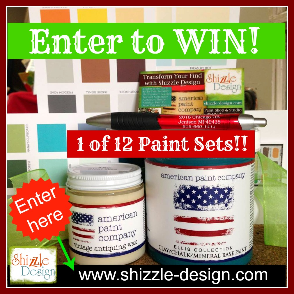 American Paint Company Chalk Clay Paints and Clear Wax are online and in stock at Shizzle Design. Fast, reliable flat rate shipping.