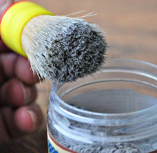 small wax brush