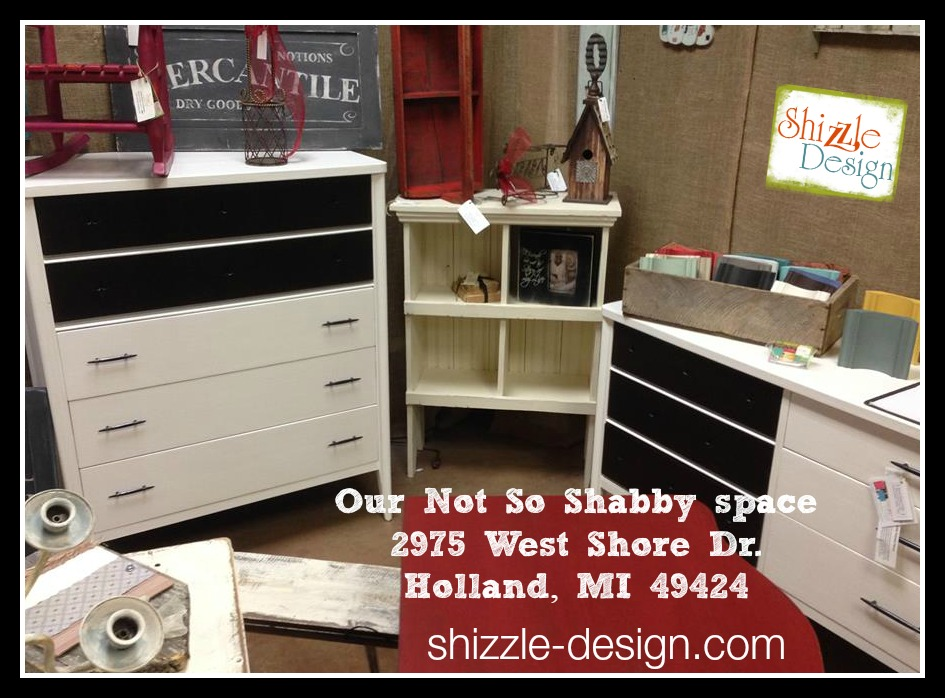Shizzle Design booth at Not So Shabby painted furniture Holland Michigan American Paint Company CeCe Caldwell's Paints chalk ideas