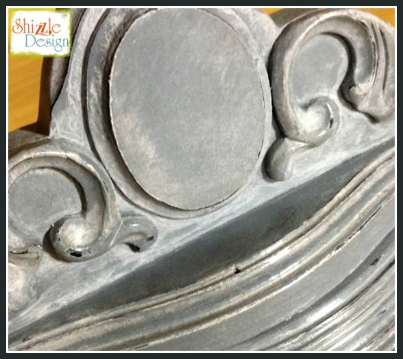 Tarnished Platter chalk paint colors Shizzle Design gray blue antique buffet sideboard painted furniture ideas Michigan white wash glaze wax