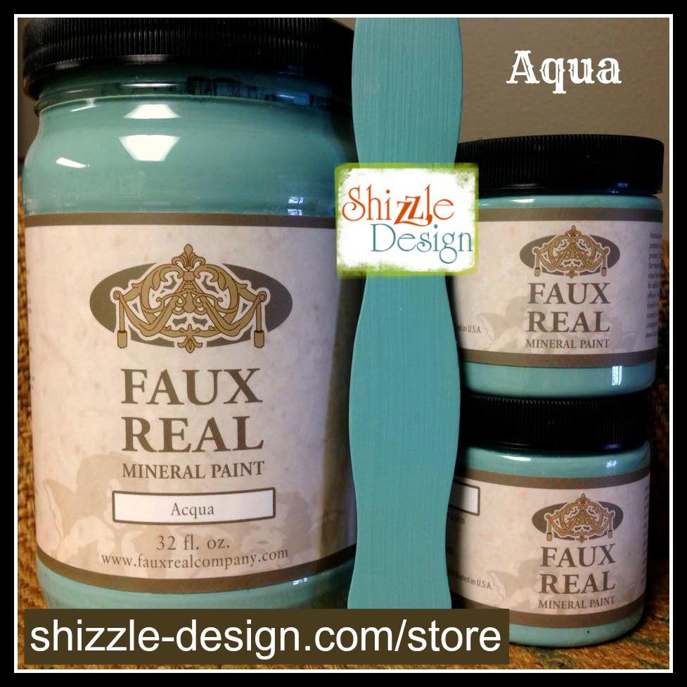Aqua - Faux Real Mineral Paint Shizzle Design Michigan retailer Aqua blue chalk paint