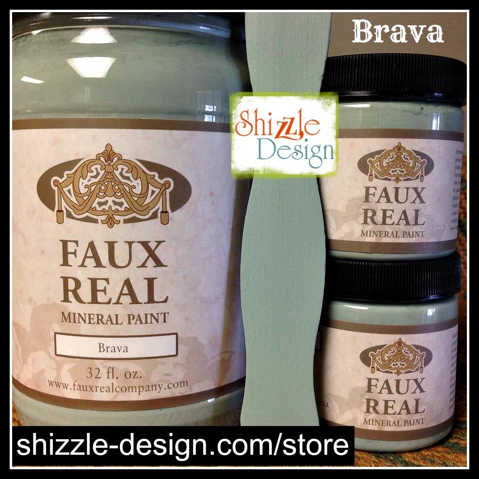 Brava - Faux Real Mineral Paint Shizzle Design Michigan best Michigan retailer Sage Green chalk paint DIY colors durable - Copy